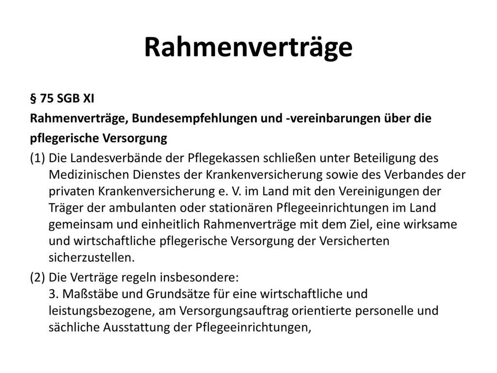 Rahmenverträge § 75 SGB XI