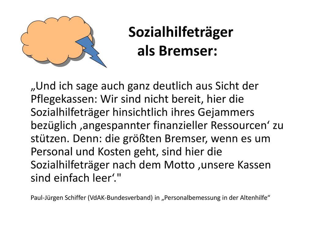 Sozialhilfeträger als Bremser: