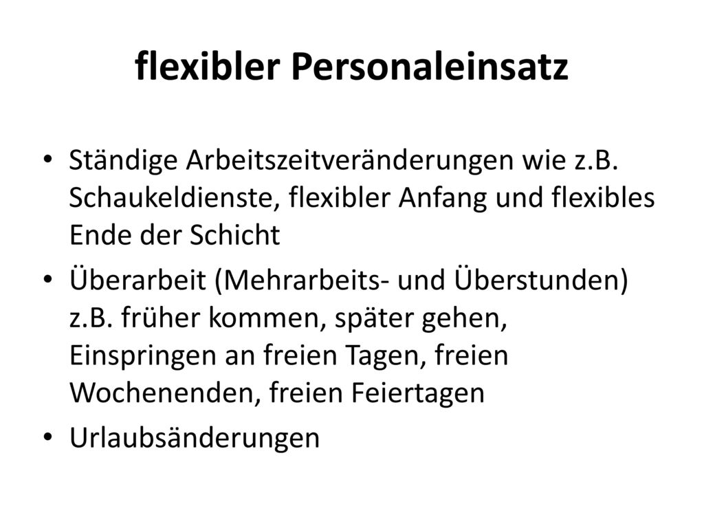 flexibler Personaleinsatz