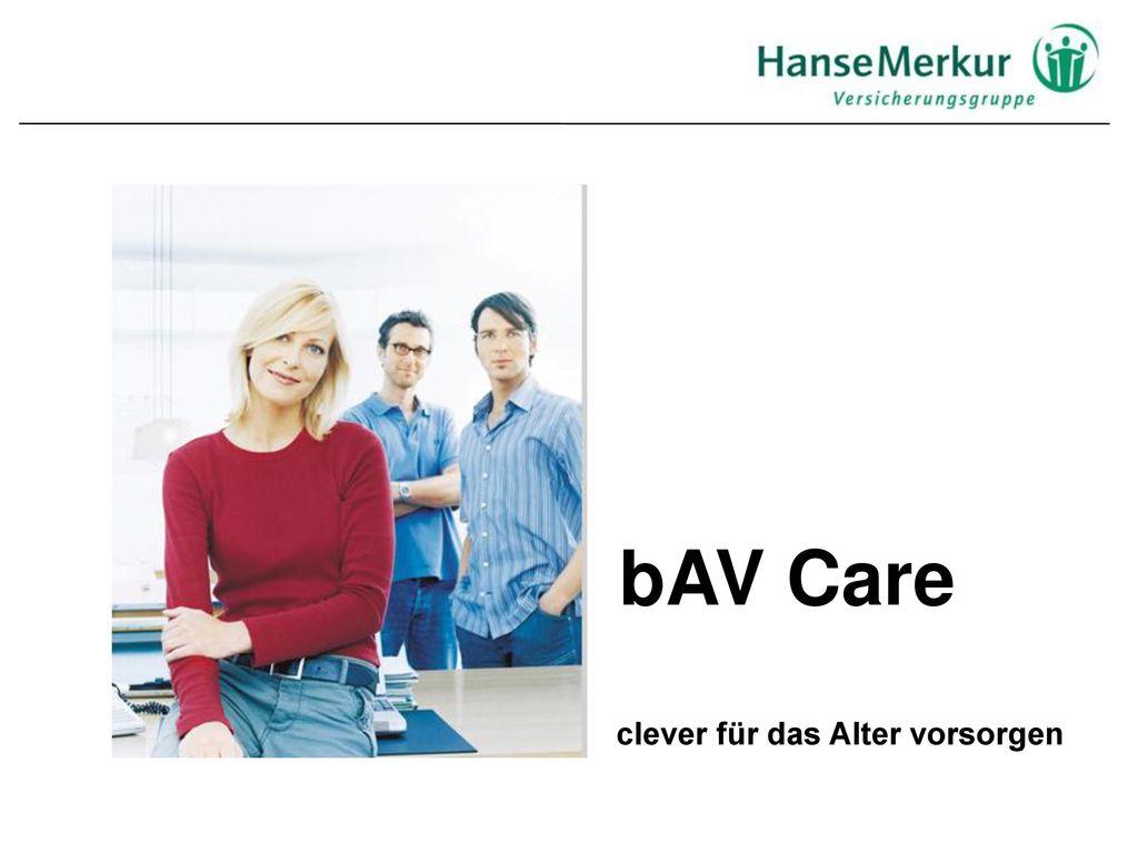bAV Care clever für das Alter vorsorgen