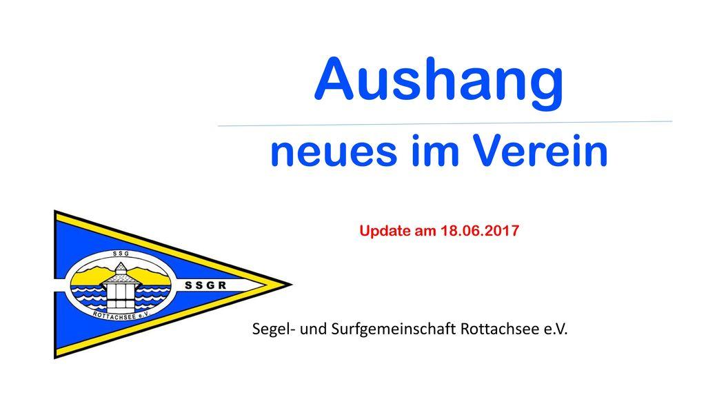 Aushang neues im Verein Update am 18.06.2017