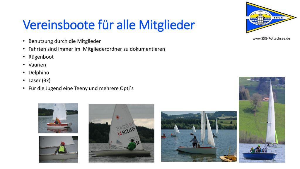 Vereinsboote für alle Mitglieder