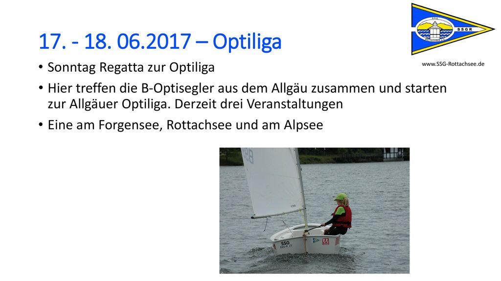 17. - 18. 06.2017 – Optiliga Sonntag Regatta zur Optiliga