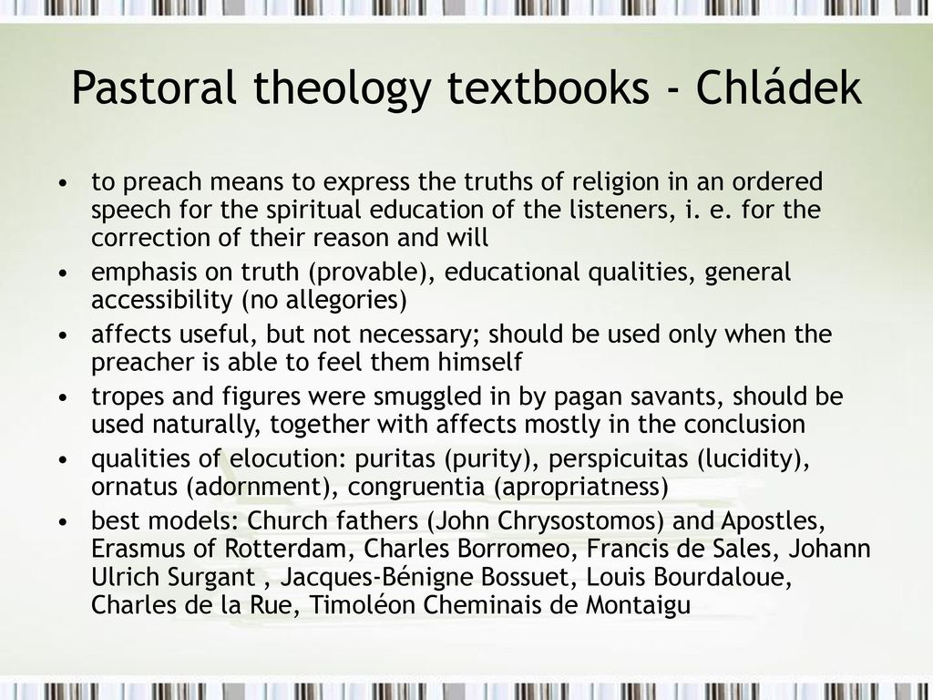 Pastoral theology textbooks - Chládek
