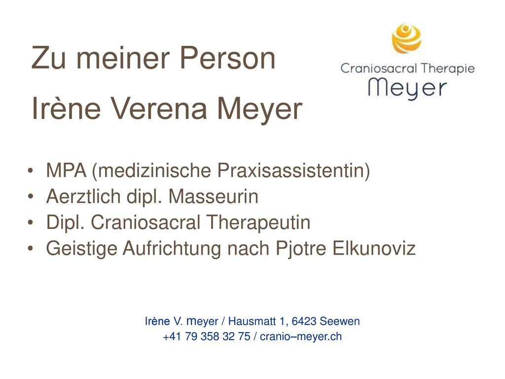 Zu meiner Person Irène Verena Meyer