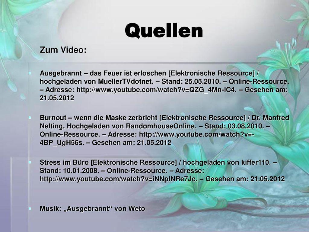 Quellen Zum Video: