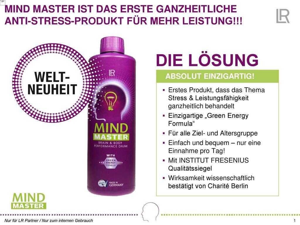 MIND MASTER IST DAS ERSTE GANZHEITLICHE ANTI-STRESS-PRODUKT FÜR MEHR LEISTUNG!!!