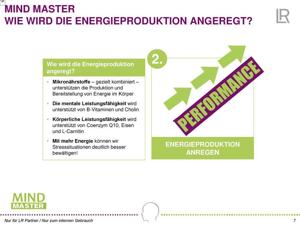 MIND MASTER WIE WIRD DIE ENERGIEPRODUKTION ANGEREGT