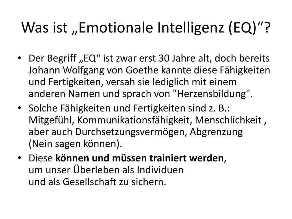 """Was ist """"Emotionale Intelligenz (EQ)"""