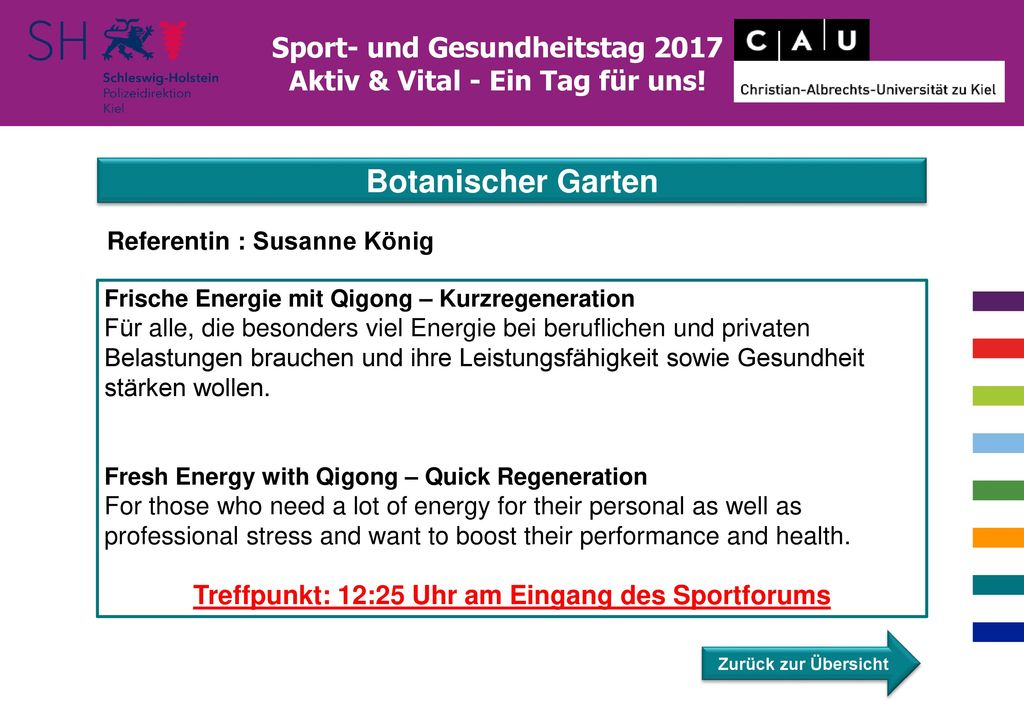 Botanischer Garten Sport- und Gesundheitstag 2017