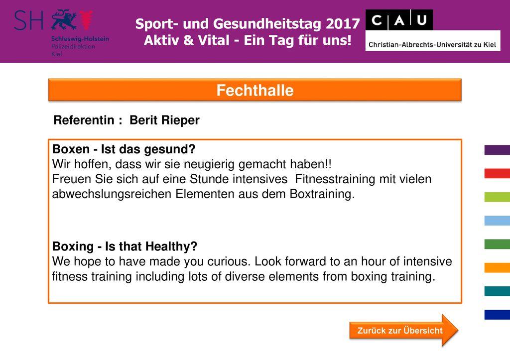Sport- und Gesundheitstag 2017 Aktiv & Vital - Ein Tag für uns!