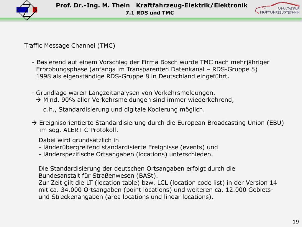 Traffic Message Channel (TMC)