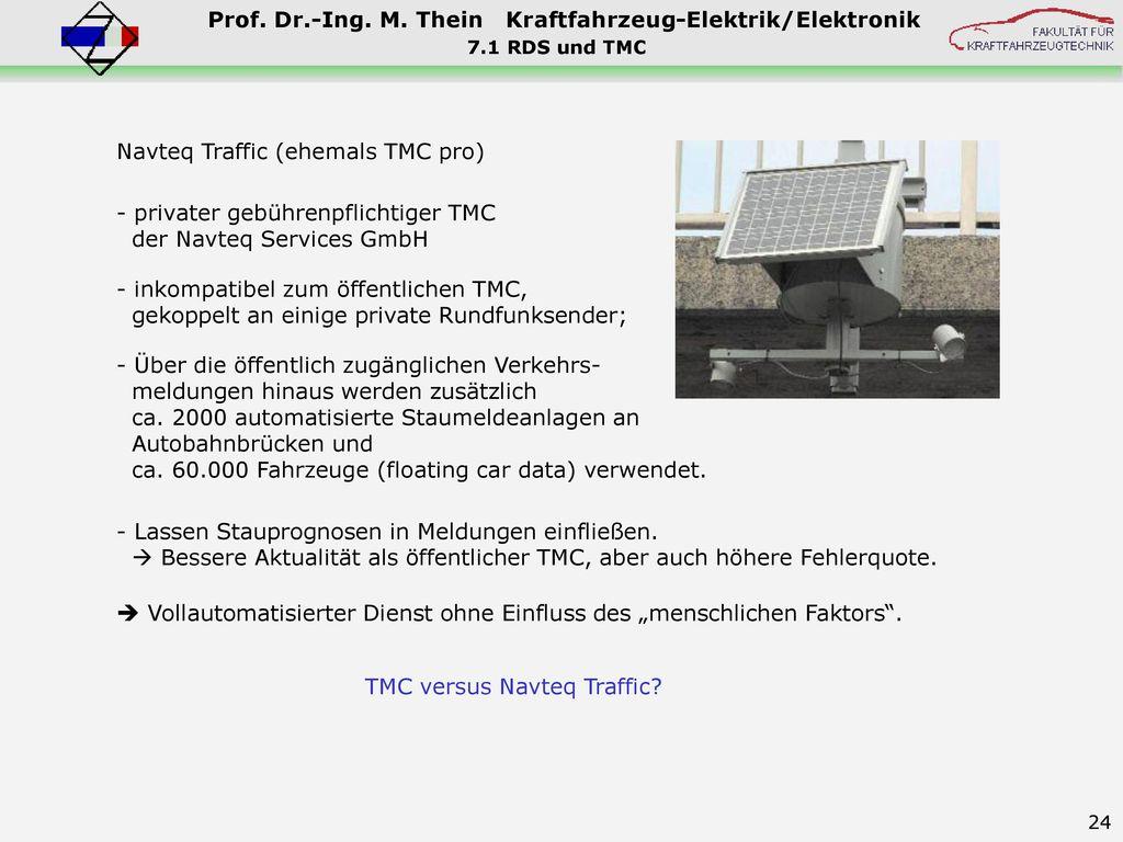 Navteq Traffic (ehemals TMC pro)