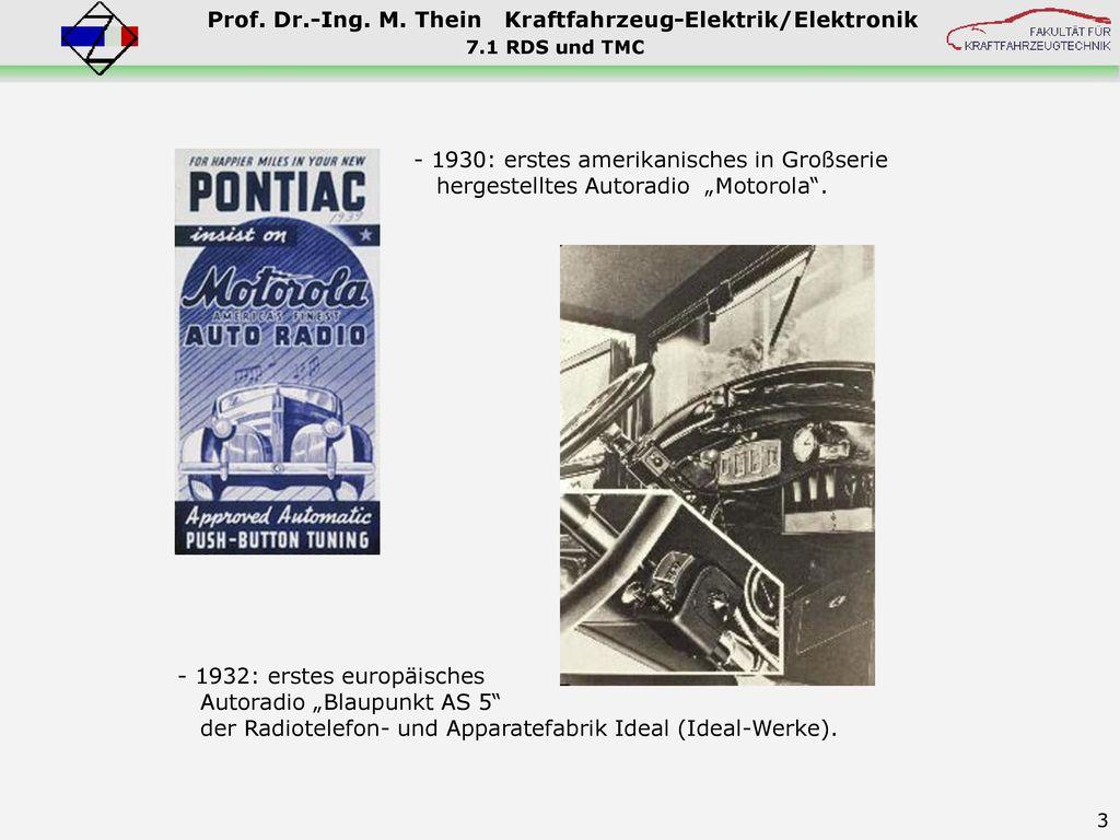 "- 1932: erstes europäisches Autoradio ""Blaupunkt AS 5"