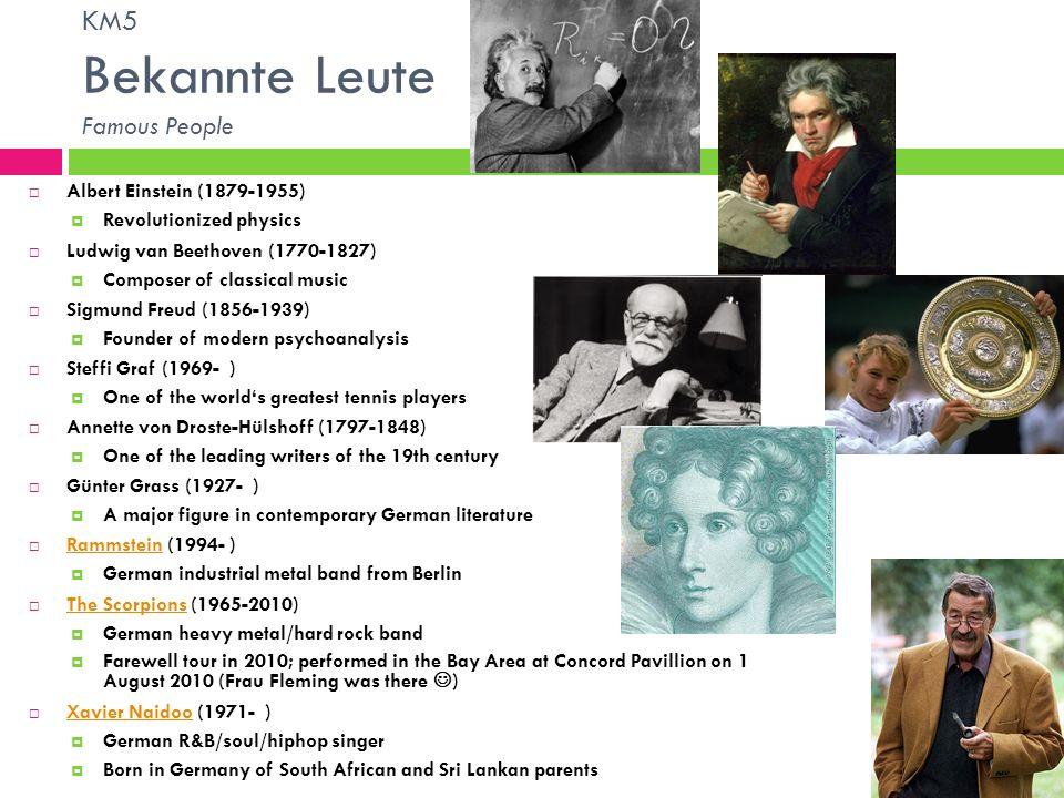 KM5 Bekannte Leute Famous People