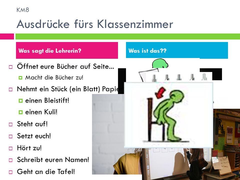 KM8 Ausdrücke fürs Klassenzimmer
