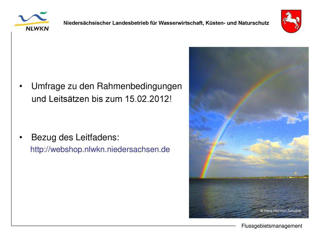 Umfrage zu den Rahmenbedingungen und Leitsätzen bis zum 15.02.2012!
