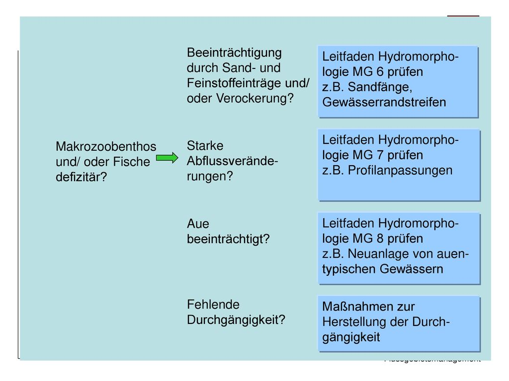 Leitfaden Hydromorpho- logie MG 6 prüfen