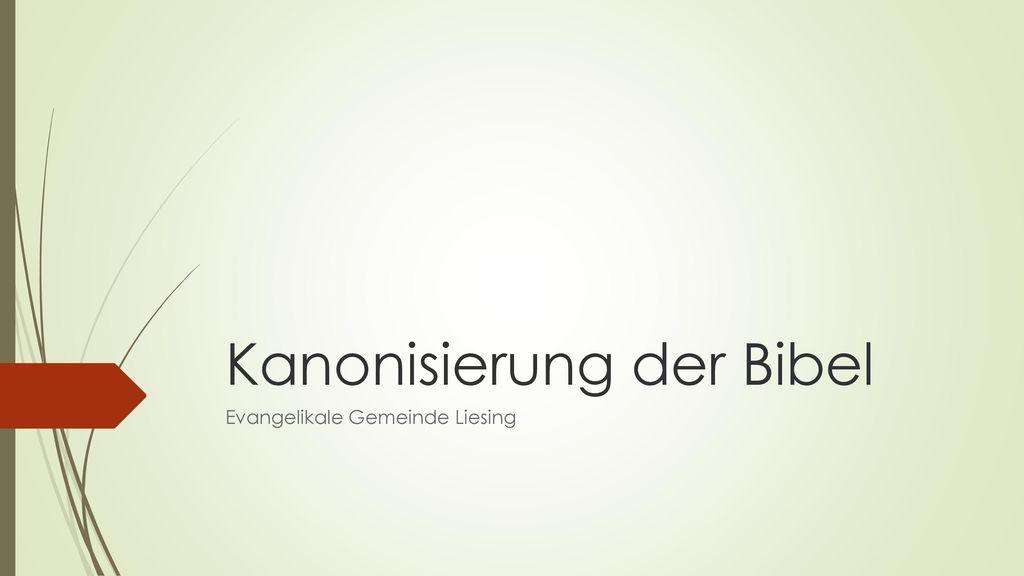 Kanonisierung der Bibel