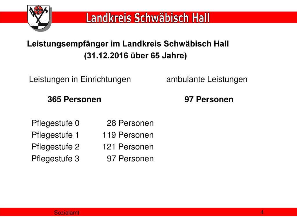 Leistungsempfänger im Landkreis Schwäbisch Hall (31. 12