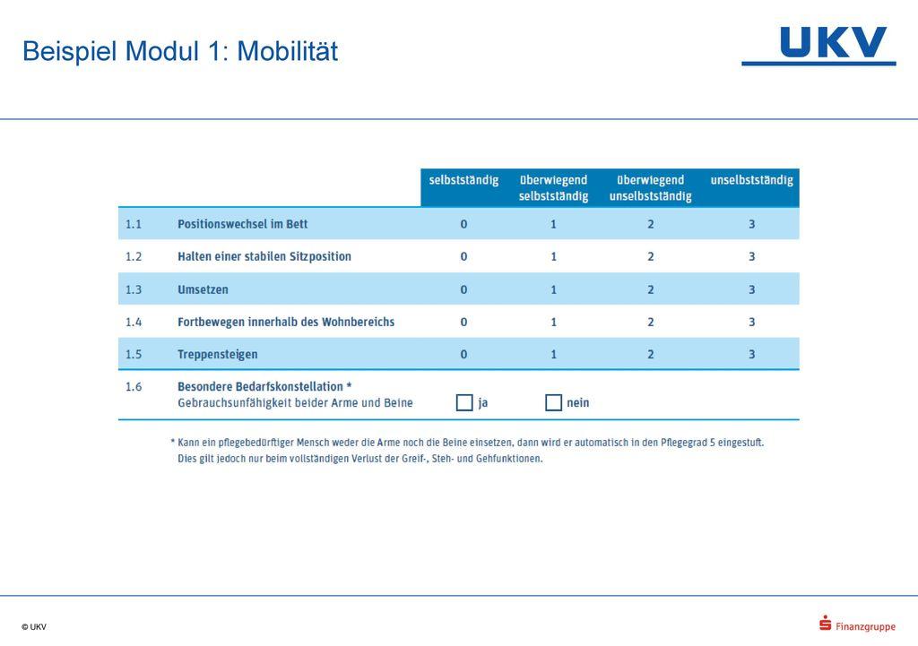 Beispiel Modul 1: Mobilität