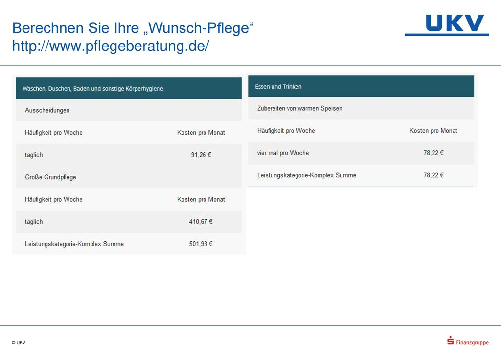 """Berechnen Sie Ihre """"Wunsch-Pflege http://www.pflegeberatung.de/"""