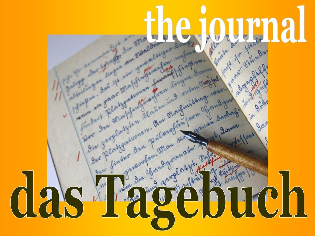 the journal das Tagebuch