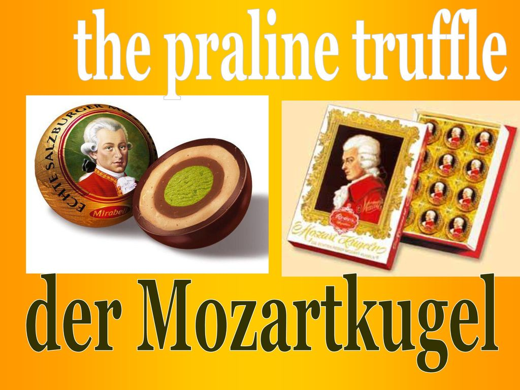 the praline truffle der Mozartkugel