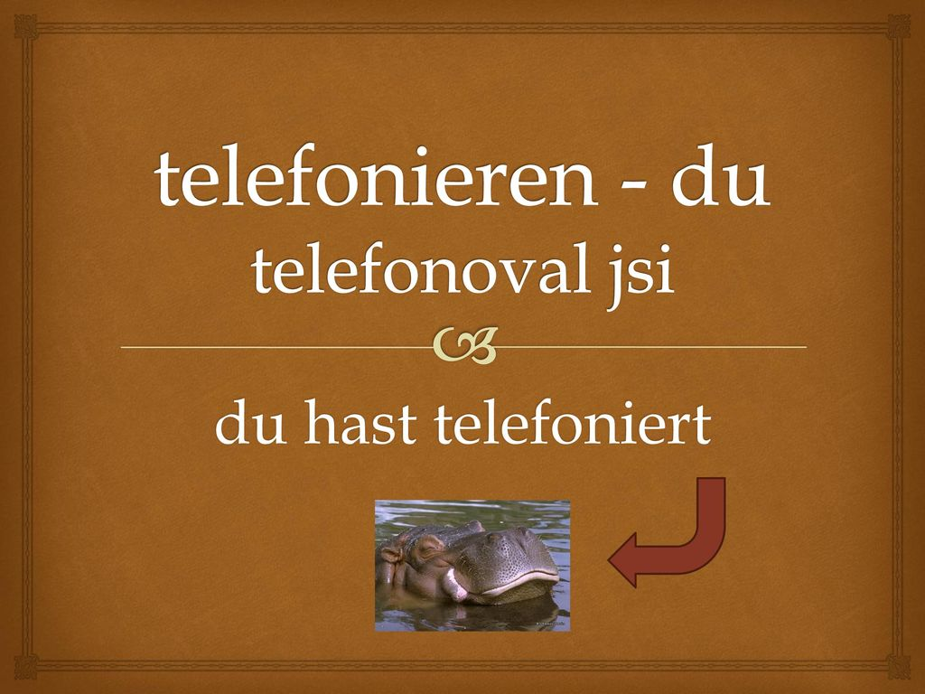 telefonieren - du telefonoval jsi
