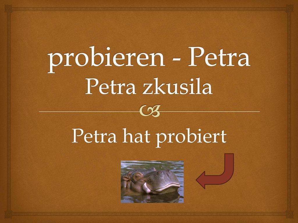 probieren - Petra Petra zkusila