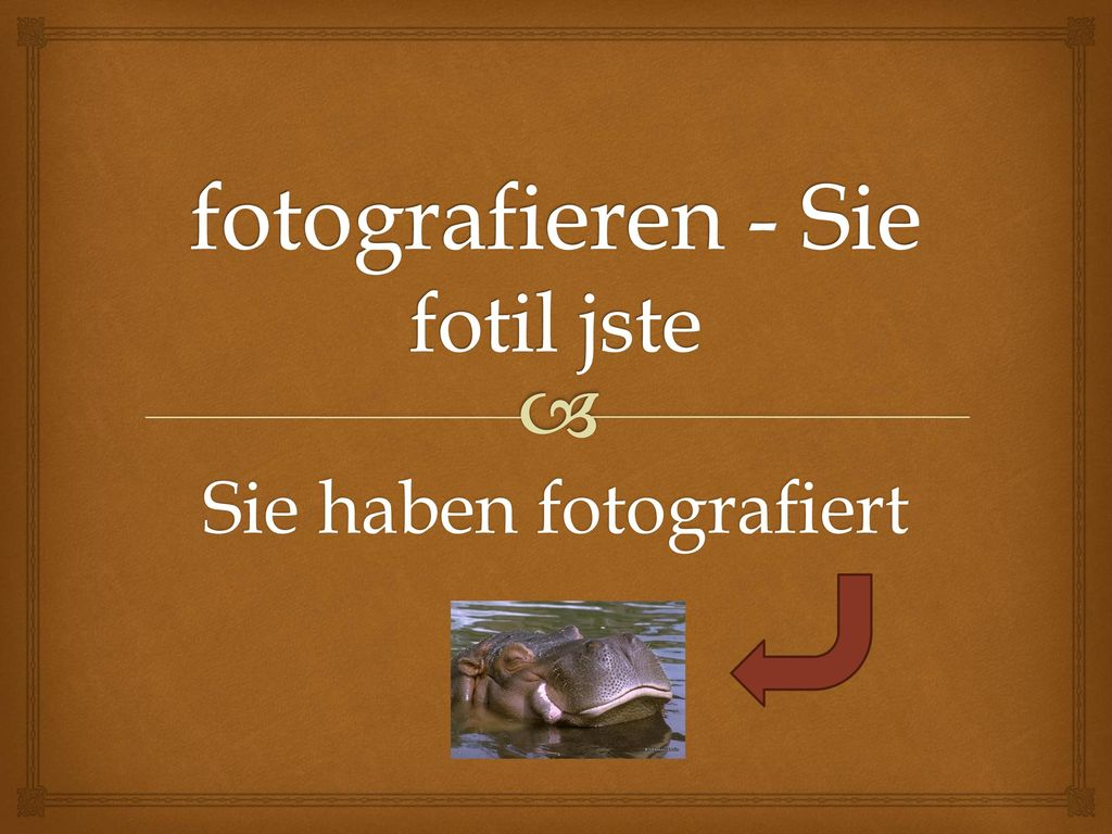 fotografieren - Sie fotil jste