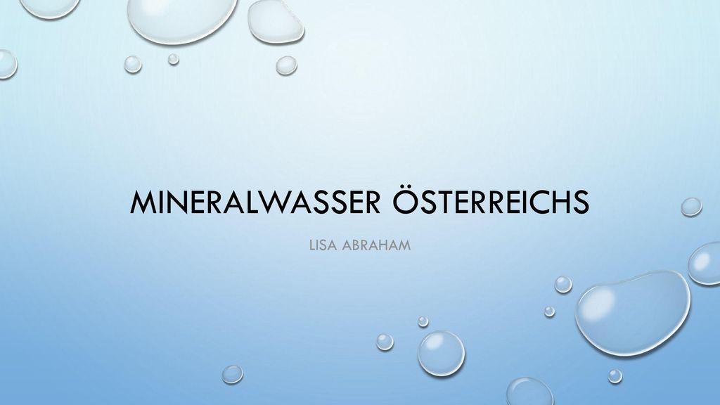 Mineralwasser Österreichs