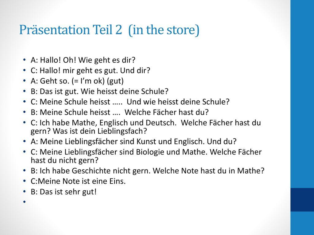 Präsentation Teil 2 (in the store)