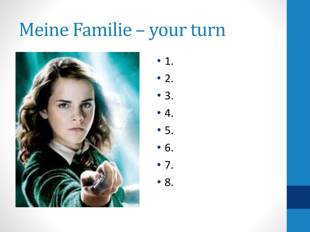 Meine Familie – your turn