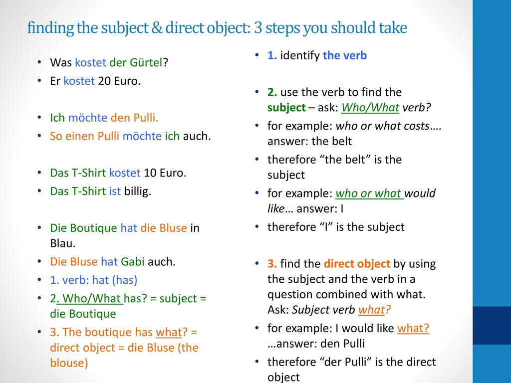 finding the subject & direct object: 3 steps you should take