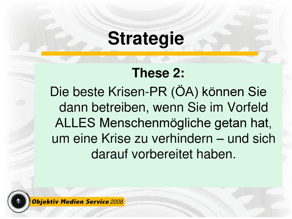 Strategie These 2: