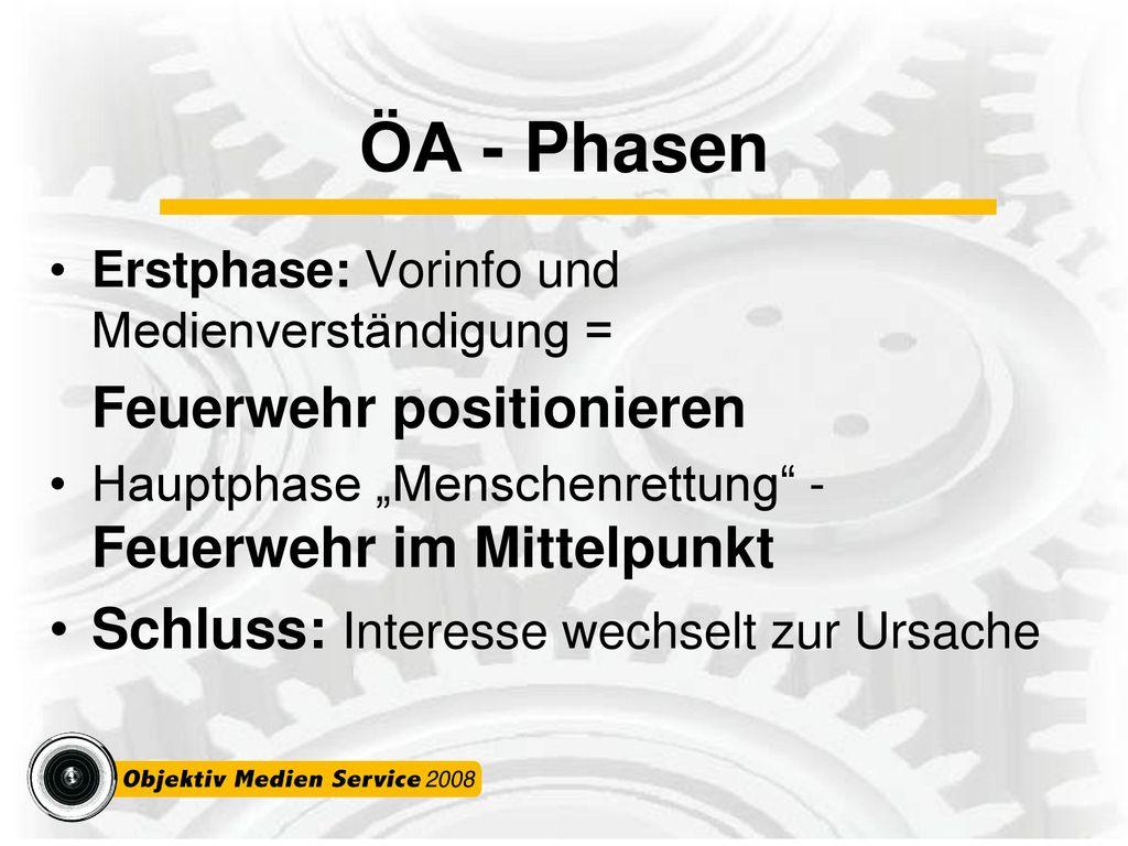 ÖA - Phasen Schluss: Interesse wechselt zur Ursache