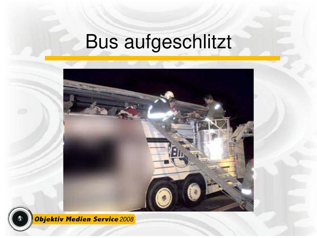 Bus aufgeschlitzt