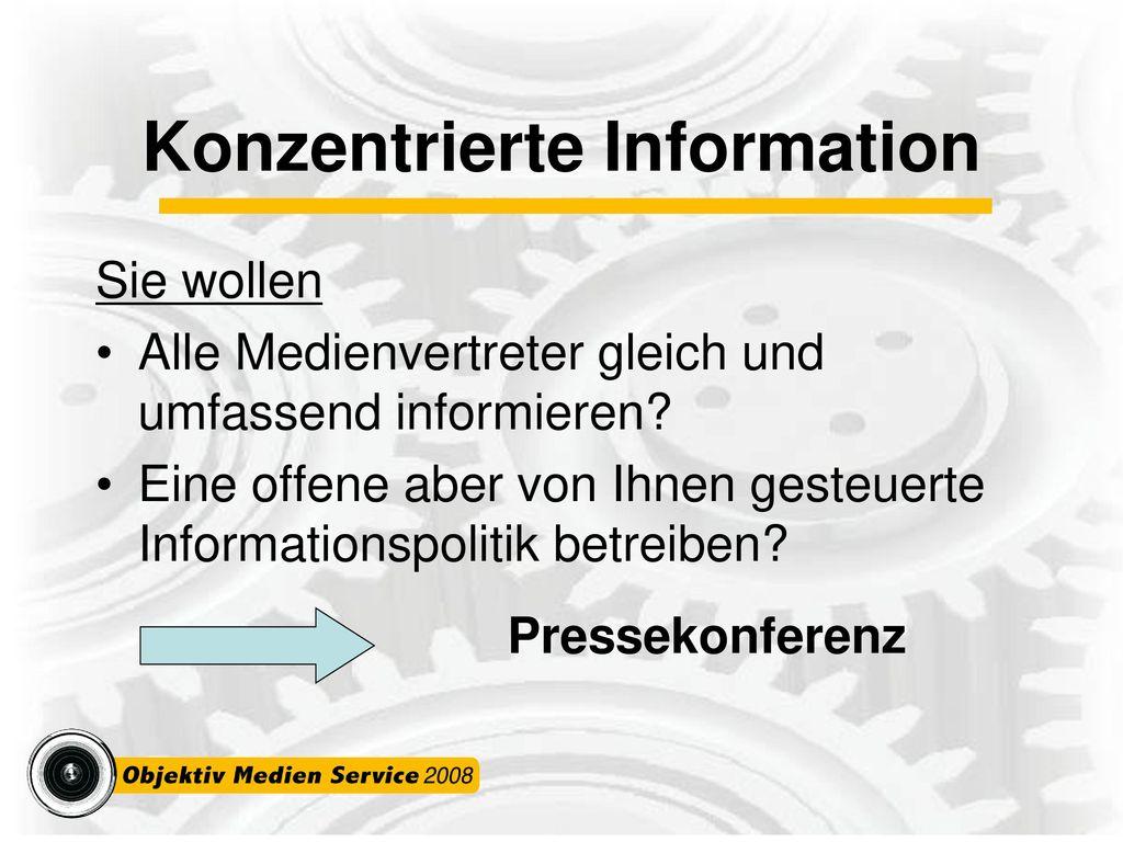 Konzentrierte Information