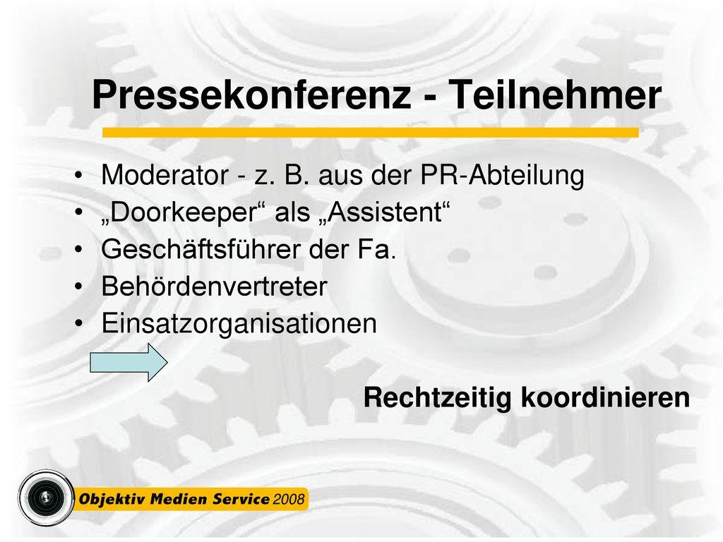 Pressekonferenz - Teilnehmer