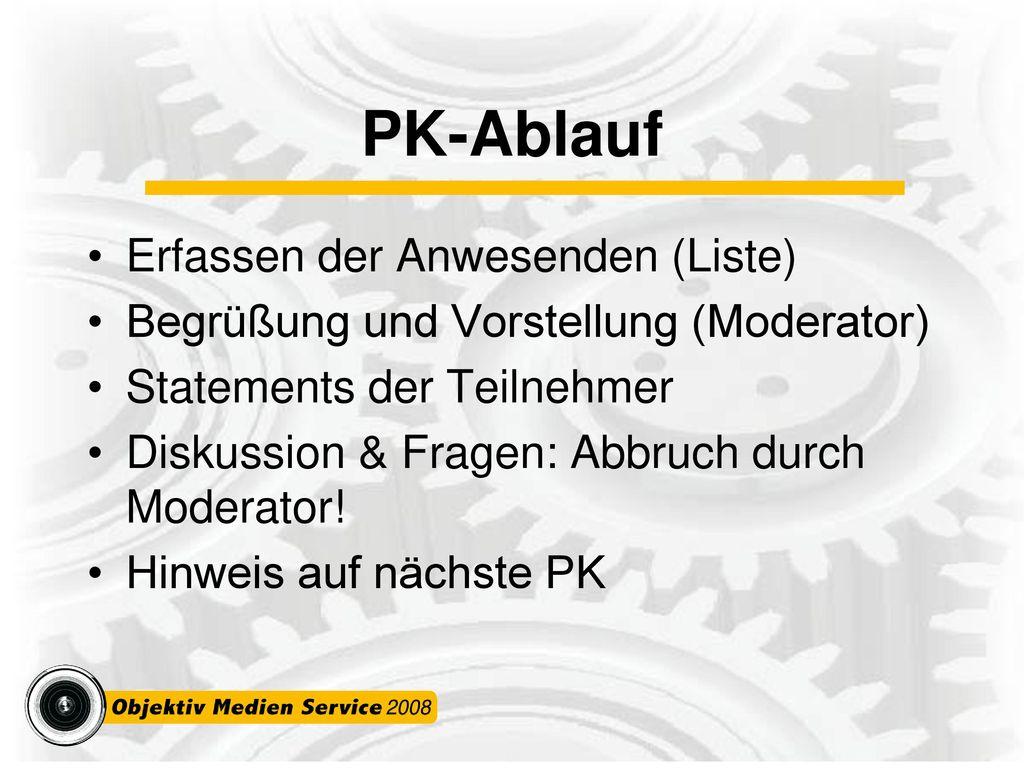 PK-Ablauf Erfassen der Anwesenden (Liste)