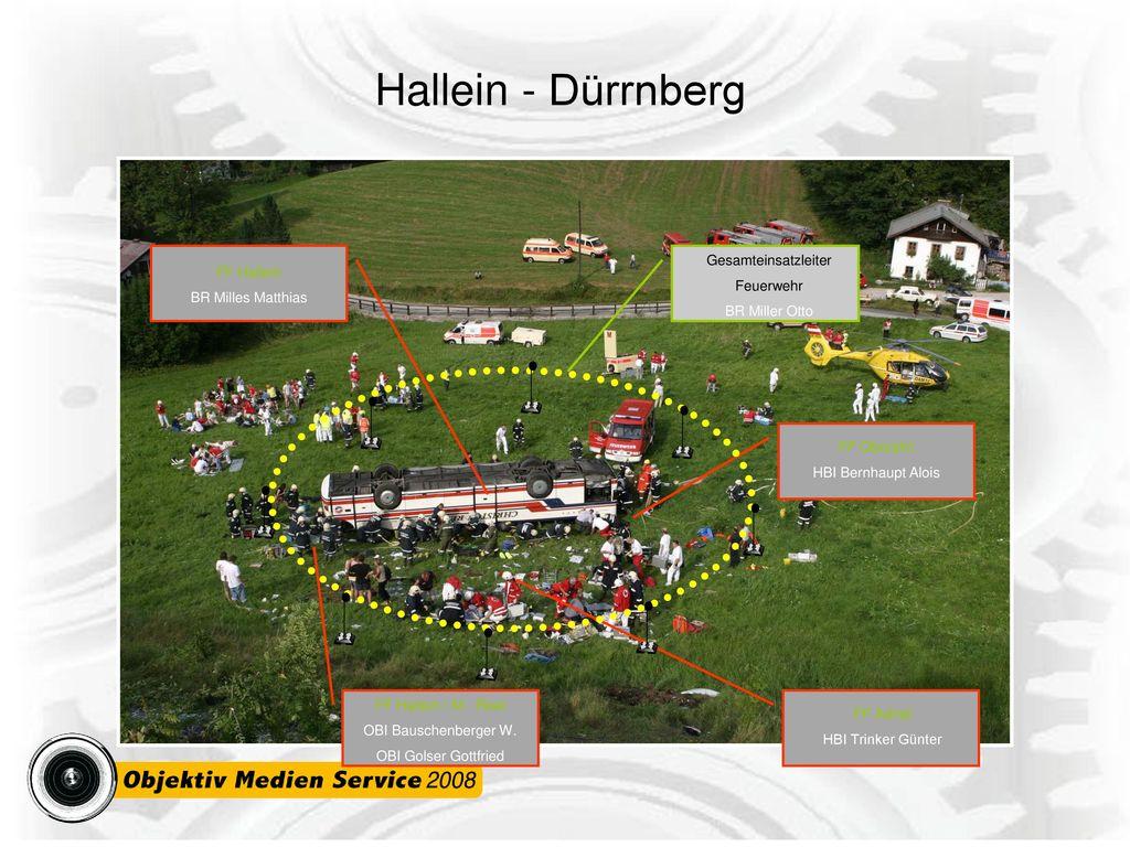 Hallein - Dürrnberg FF Hallein BR Milles Matthias Gesamteinsatzleiter