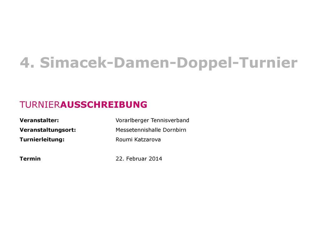 4. Simacek-Damen-Doppel-Turnier