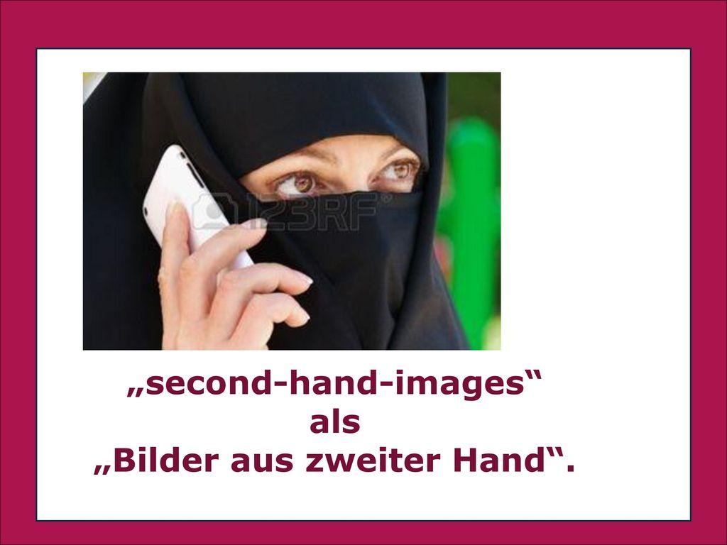 """""""second-hand-images als """"Bilder aus zweiter Hand ."""