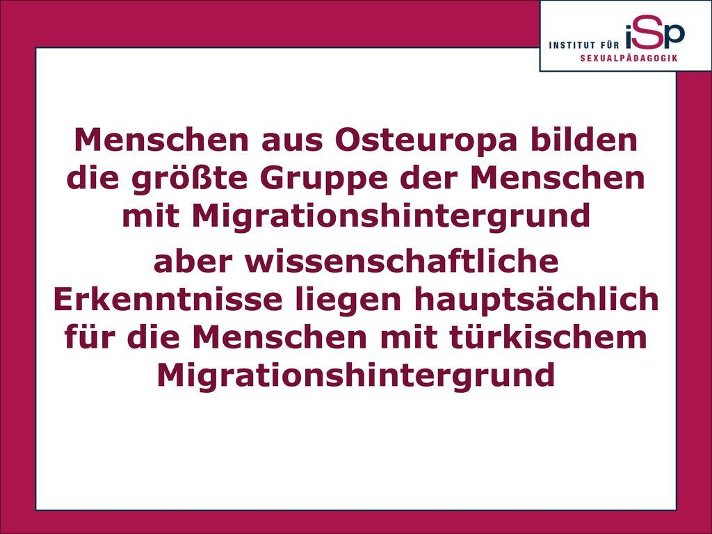 Menschen aus Osteuropa bilden die größte Gruppe der Menschen mit Migrationshintergrund