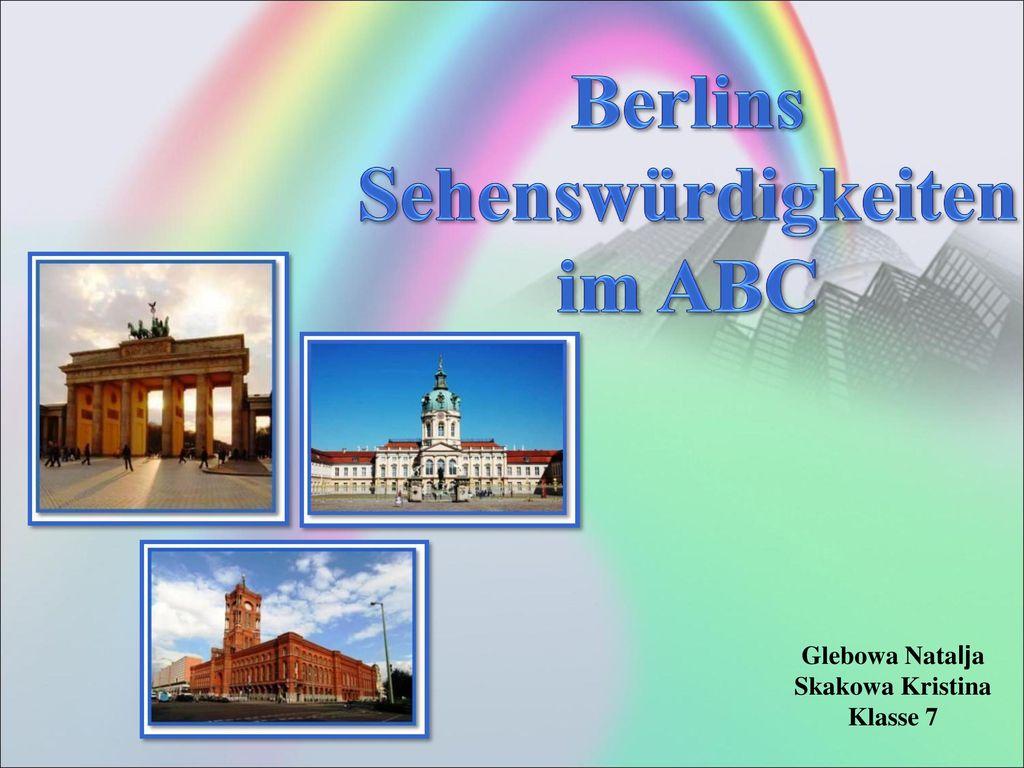 Berlins Sehenswürdigkeiten im ABC