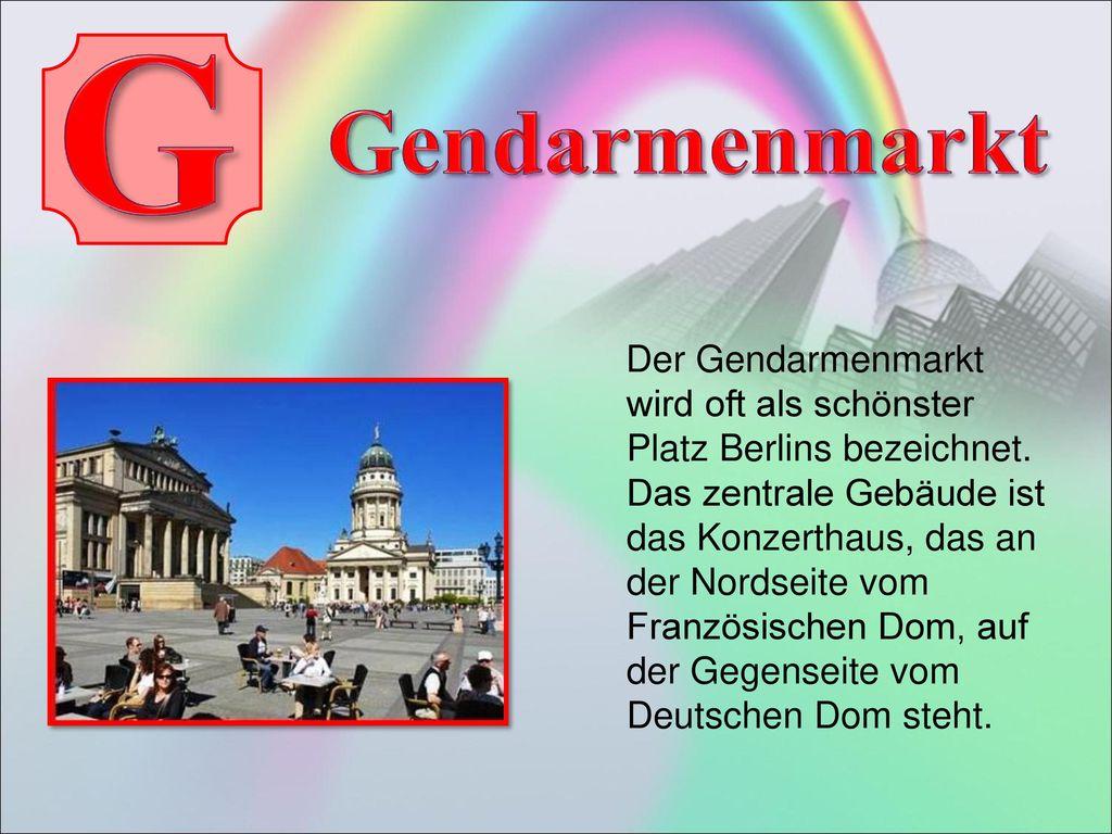 G Gendarmenmarkt.