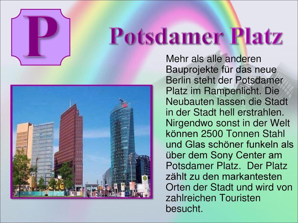 P Potsdamer Platz.