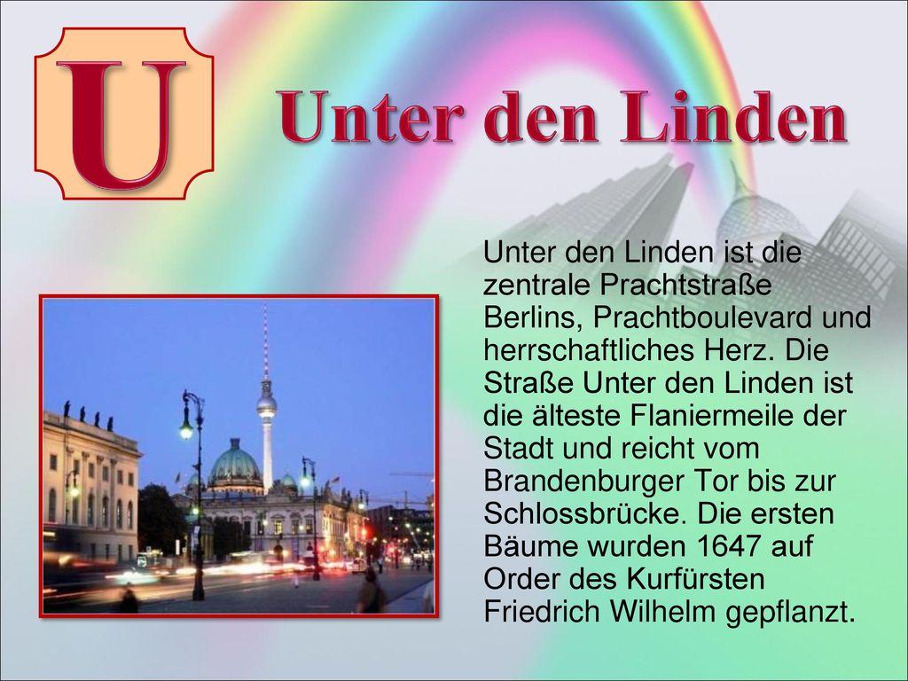 U Unter den Linden.