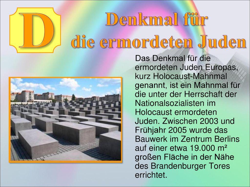D Denkmal für die ermordeten Juden